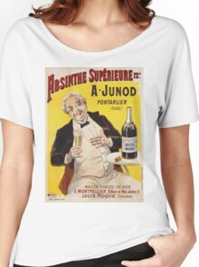 Unknown - Absinthe Superieure Beverage Poster. Man portrait: alcoholic, drinker, drunkard, wino,  fun,  hangover, humor, bottle, glass,  joy, meeting Women's Relaxed Fit T-Shirt