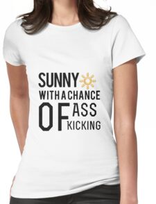 How's the weather in your world? Womens Fitted T-Shirt