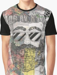 Collaged Gentleman Graphic T-Shirt