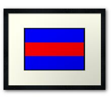 Number 3 Flag Framed Print