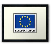 European Onion Framed Print