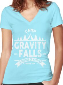 Camp Gravity Falls Women's Fitted V-Neck T-Shirt