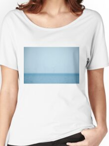 Wind Farm At Sea Women's Relaxed Fit T-Shirt
