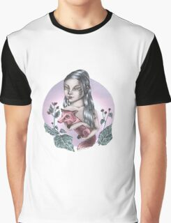 Girl with red fox Graphic T-Shirt
