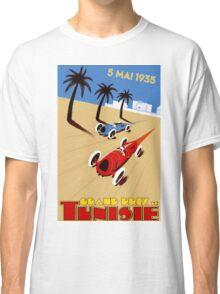 """TUNISIE GRAND PRIX"" Automobile Race Print Classic T-Shirt"