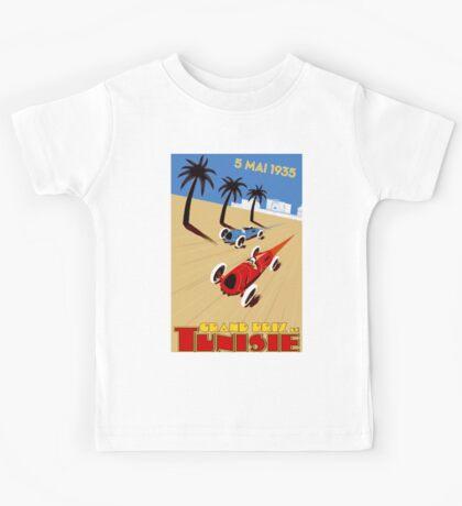 """TUNISIE GRAND PRIX"" Automobile Race Print Kids Tee"