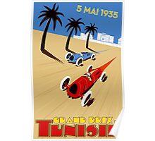"""TUNISIE GRAND PRIX"" Automobile Race Print Poster"