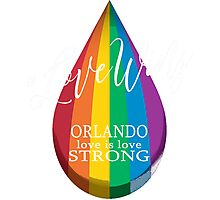#LoveWins - Remembering Orlando Photographic Print