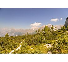 mountain peak in a summer day Photographic Print