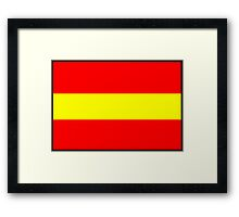 Number 1 Flag Framed Print