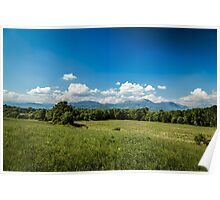 Fields of Italy in a spring day Poster