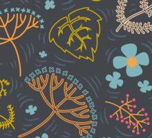 Dark pond pattern. Sticker