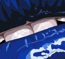 Blue Layered Graphic Lips Sticker