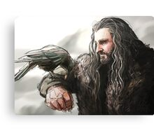 Thorin and the Raven Canvas Print