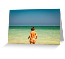 girl at the sea Greeting Card