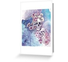 maiden in the mirror (print) Greeting Card