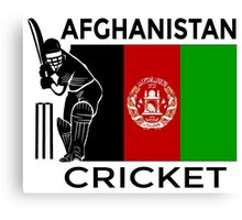 Afghanistan Cricket Canvas Print