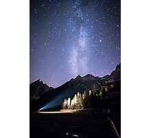 milky way in val Fiscalina Photographic Print