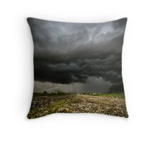 storm over the fields Throw Pillow