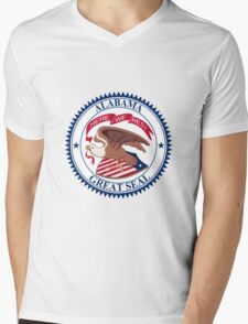Seal of Alabama, 1868-1939  Mens V-Neck T-Shirt