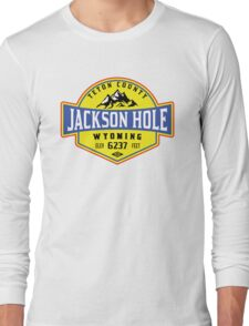 JACKSON HOLE WYOMING Mountain Skiing Ski Snowboard Snowboarding 2 Long Sleeve T-Shirt