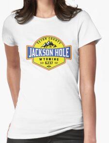 JACKSON HOLE WYOMING Mountain Skiing Ski Snowboard Snowboarding 2 Womens Fitted T-Shirt