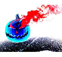Smoke Bomb Pumpkin - Inversion Photographic Print