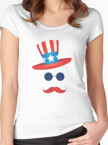 American Hat 4th of July T-Shirt Independence Day 2016  Women's Fitted Scoop T-Shirt