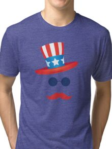 American Hat 4th of July T-Shirt Independence Day 2016  Tri-blend T-Shirt