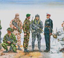 Royal Marine uniforms 1972 - 2014 by wonder-webb