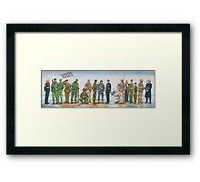 Royal Marine uniforms 1972 - 2014 Framed Print