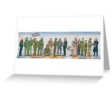 Royal Marine uniforms 1972 - 2014 Greeting Card