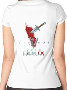 FilmFX Ireland - Vikings 2015 Back Stab Women's Fitted Scoop T-Shirt