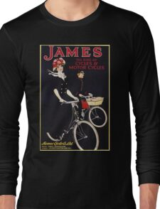 Unknown - James - The King Of Cycles & Motorcycles Poster. Woman portrait: sensual woman,  bicycle ,  bicycling ,  cycle,  cycling,  enjoy,  free time,  fun,  hobbies,  hobby,  holiday Long Sleeve T-Shirt