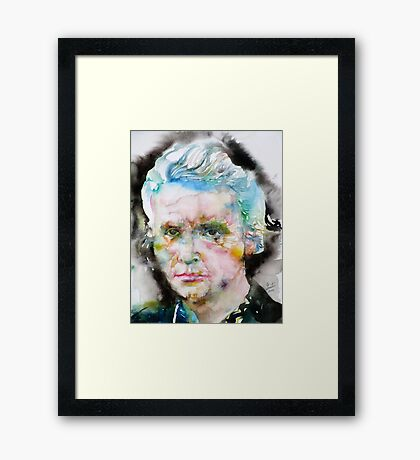 MARIE CURIE - watercolor portrait Framed Print