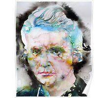 MARIE CURIE - watercolor portrait Poster