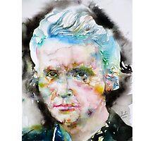 MARIE CURIE - watercolor portrait Photographic Print
