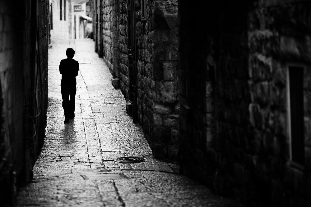 Jerusalem streets walker by Victor Bezrukov
