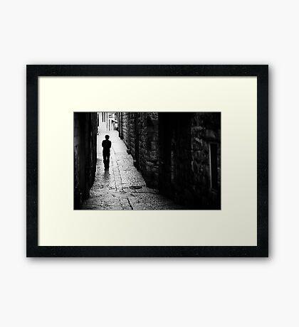 Jerusalem streets walker Framed Print
