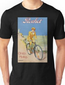 Unknown - Rochet Cycles Motos Poster. Man portrait: strong man,  bicycle ,  bicycling ,  cycle,  cycling,  enjoy,  free time,  fun,  hobbies,  hobby,  holiday Unisex T-Shirt
