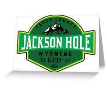 JACKSON HOLE WYOMING Mountain Skiing Ski Snowboard Snowboarding 5 Greeting Card