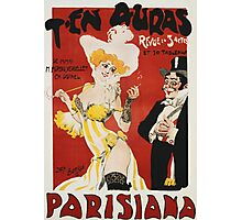 Unknown - T En Auras, Parisiana Poster. Woman portrait: sensual woman, Women,  Hats,  French Culture ,  Theaters,  Dresses,  Smoking,  Cigars ,  Cigarettes,  Antiques,  Gloves Photographic Print