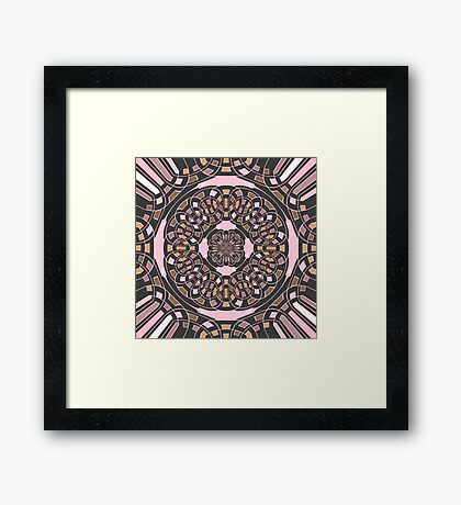 Complex geometric abstract Framed Print