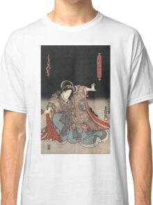Utagawa Kunisada - An Actor In The Role Of Narutonomae. Portrait:  actor ,  mask,  face,  kimono,  tattoos,  theater,  shows Classic T-Shirt