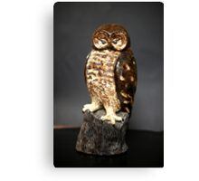 Owl Sculpture Canvas Print