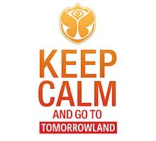 Keep Calm and go to Tomorrowland - Yellow gradient Photographic Print