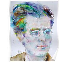 GUSTAV MAHLER - watercolor portrait.3 Poster