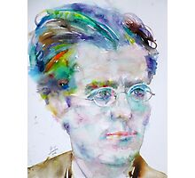 GUSTAV MAHLER - watercolor portrait.3 Photographic Print
