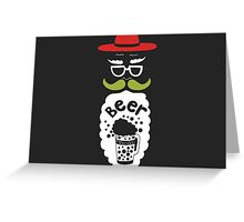 A Beard Beer Man With Mustache Greeting Card