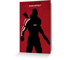 Male Shepard - Mass Effect Greeting Card